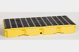 Eagle modular platforms, designed to hold 1, 2 & 4 drums at a time. these platforms have removable grating that allows for easy cleaning.